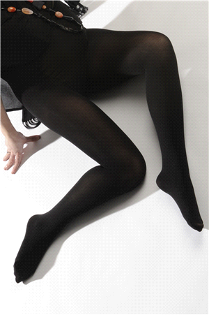 Comfort black maternity tights