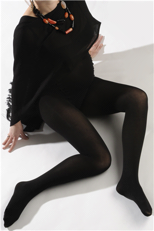 Comfort black maternity tights 2