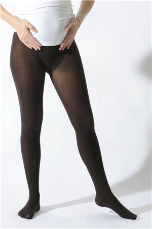 Comfort brown maternity tights